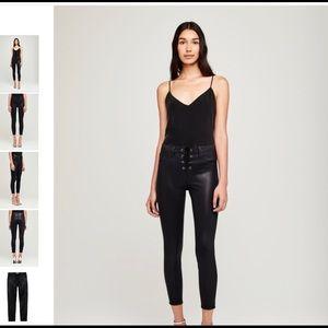 L'Agence Cheri Lace Up Skinny Jeans